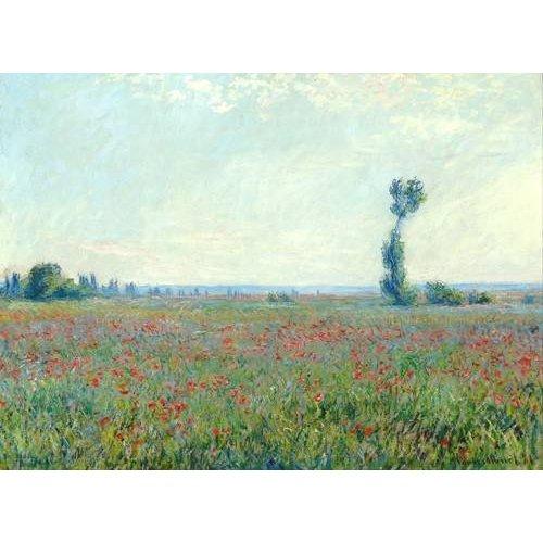 pinturas de paisagens - Quadro -The Poppy Field near Giverny-