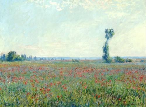 tableaux-de-paysages - Tableau -Le Champ de coquelicots près de Giverny- - Monet, Claude