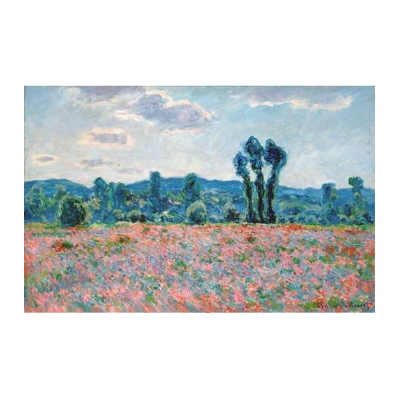 pinturas de paisagens - Quadro -Poppy Field, 1887 (oil on canvas)-