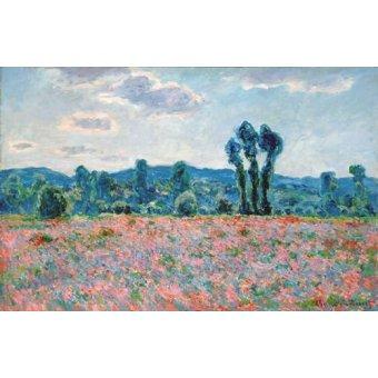 Tableau -Champ de coquelicots, 1887 (oil on canvas)-