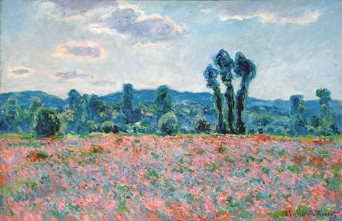 tableaux-de-paysages - Tableau -Champ de coquelicots, 1887 (oil on canvas)- - Monet, Claude