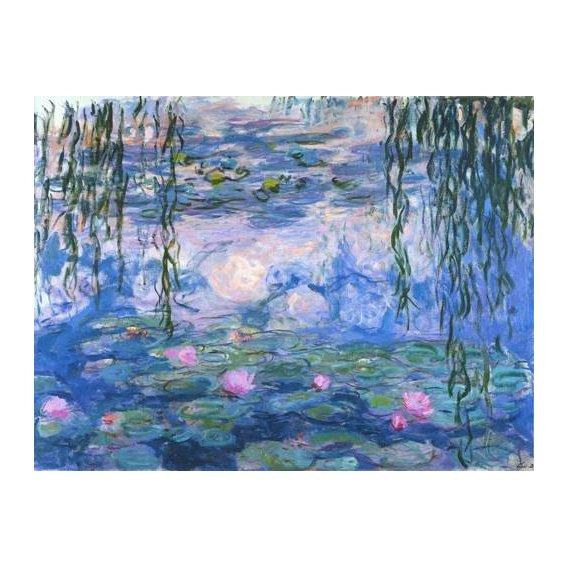pinturas de paisagens - Quadro -Waterlilies, 1916-19-