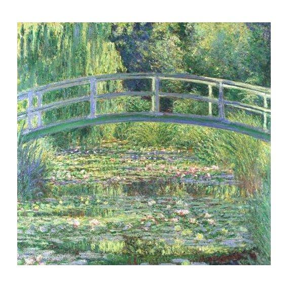 pinturas de paisagens - Quadro -Waterlily Pond, 1899 (oil on canvas)-