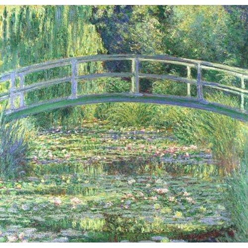 Tableau - Le bassin aux nymphéas, harmonie verte, 1899 (Waterlily Pond) -