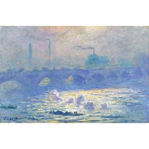 pinturas de paisagens - Quadro -Waterloo Bridge, Effect of the Mist, 1903-
