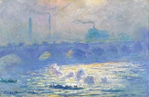 tableaux-de-paysages - Tableau -Pont de Waterloo, effet de la brume, 1903- - Monet, Claude