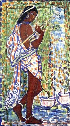 cuadros-decorativos - Tableau -Danseuse hindoue- - Prendergast, Maurice