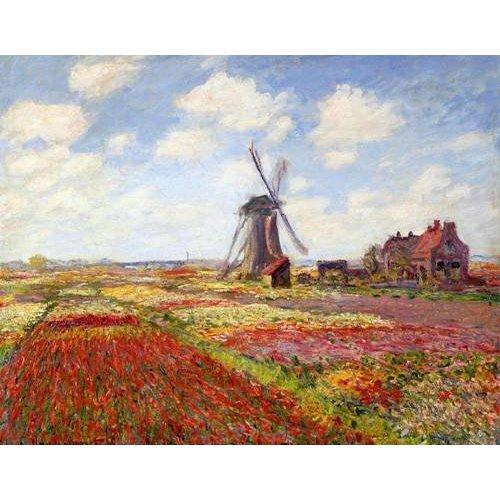 Tableau -Champs de tulipes avec le moulin à vent de Rijnsburg, 1886-