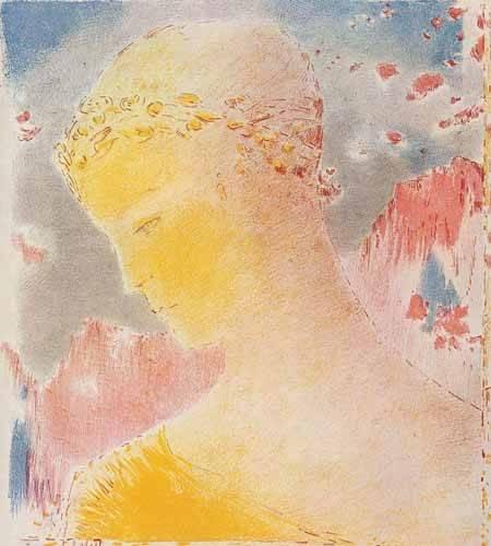 cuadros-decorativos - Tableau -Femme d'or- - Redon, Odilon