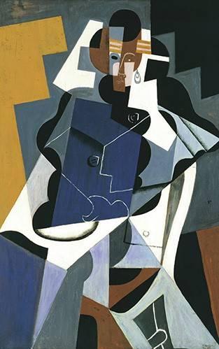 tableaux-abstraits - Tableau -Figure of a Woman, 1917- - Gris, Juan