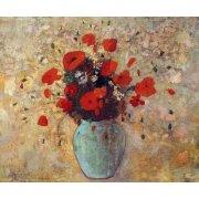 Tableau - Vase aux coquelicots -