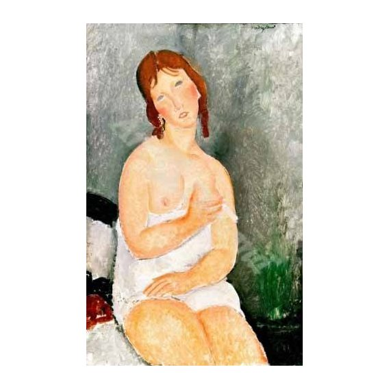 pinturas do retrato - Quadro -Jeune femme assise-