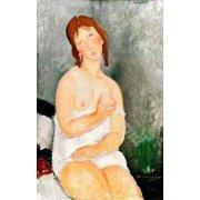 Tableau -Jeune femme assise-