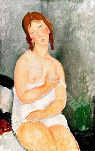 tableaux-de-personnages - Tableau -Jeune femme assise- - Modigliani, Amedeo