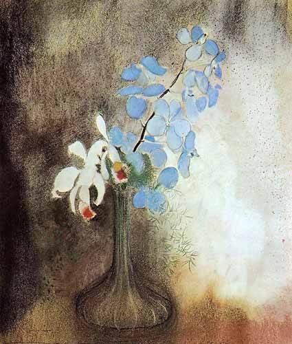 tableaux-pour-salle-a-manger - Tableau -Orquideas- - Redon, Odilon