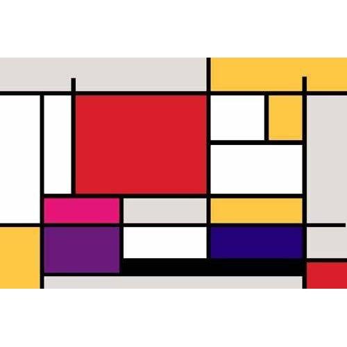 pinturas abstratas - Quadro -Abstractos MM_MONDRIAN (I)-