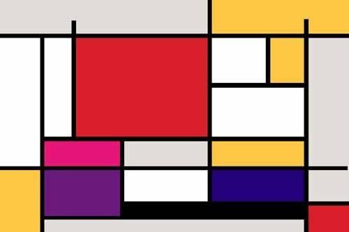 tableaux-abstraits - Tableau -Abstrait MM_MONDRIAN (I)- - Vicente, E. Ricardo