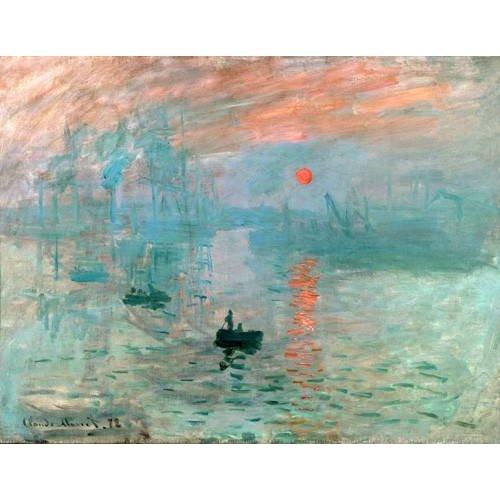 pinturas de paisagens marinhas - Quadro -Impression, soleil levant-