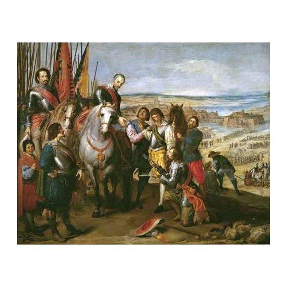 pinturas do retrato - Quadro -La rendicion de Juliers-
