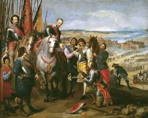 tableaux-de-personnages - Tableau -La rendicion de Juliers- - Leonardo, Jusepe