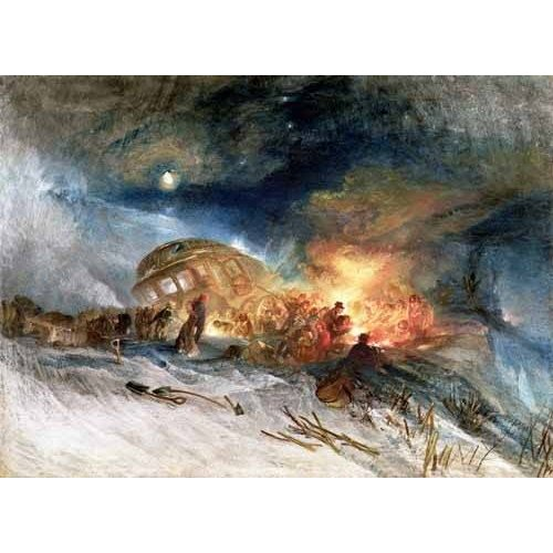 Tableau -Travellers in a Snowdrift-