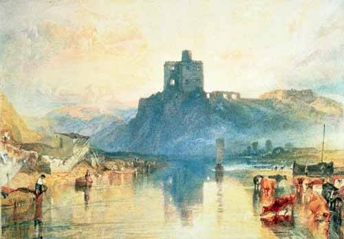 tableaux-de-paysages - Tableau -Norham Castle, 1824- - Turner, Joseph M. William