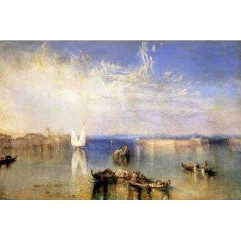 Tableaux de paysages marins - Tableau -Campo Santo, Venecia- - Turner, Joseph M. William