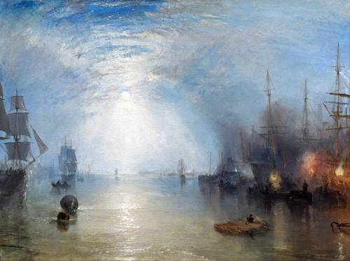 tableaux-de-paysages-marins - Tableau -Keelmen heaving in coals by night- - Turner, Joseph M. William