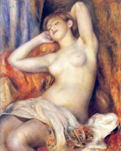 tableaux-de-nus - Tableau -La dormeuse- - Renoir, Pierre Auguste