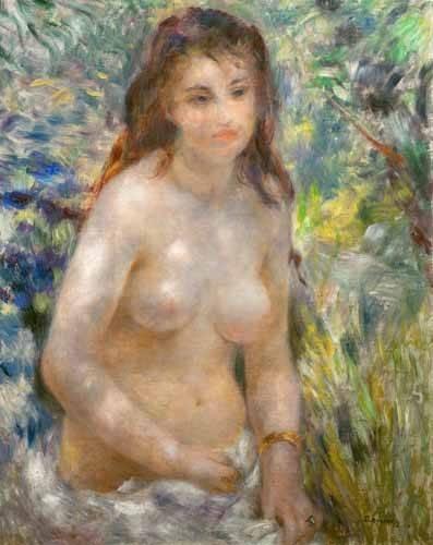 tableaux-de-nus - Tableau -Étude du torse effet du soleil- - Renoir, Pierre Auguste