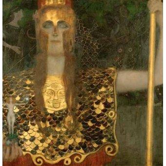 Tableaux de Personnages - Tableau -Athena pellets- - Klimt, Gustav