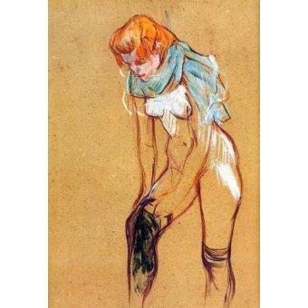 Tableau -Mujer quitándose las medias-