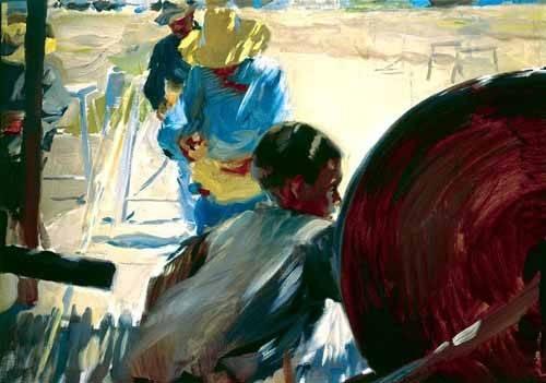 tableaux-de-personnages - Tableau -Pêcheurs sur la plage- - Sorolla, Joaquin