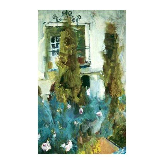 pinturas de paisagens - Quadro -Jardin de la casa del artista (IX)-