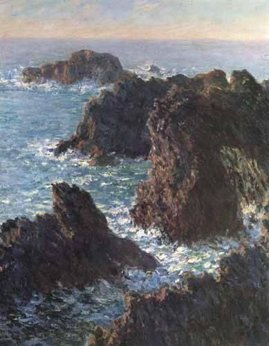 tableaux-de-paysages-marins - Tableau -Les rochers de Belle-Île- - Monet, Claude