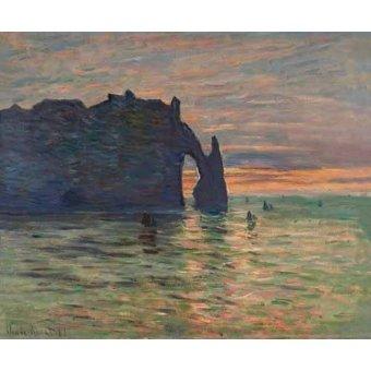 Tableau -Soleil couchant à Etretat, 1883-