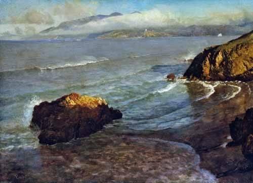 tableaux-de-paysages-marins - Tableau -Entrance to the Golden Gate- - Bierstadt, Albert