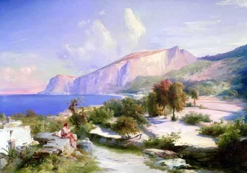 tableaux-de-paysages - Tableau -Marina grande, Capri- - Blechen, Karl