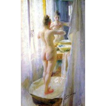 Tableaux de Nus - Tableau -Femme dans la baignoire- - Zorn, Anders