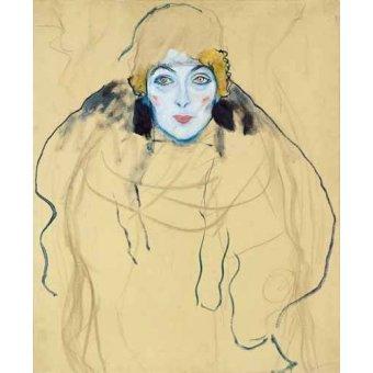 Tableaux de Personnages - Tableau -Tête de femme- - Klimt, Gustav