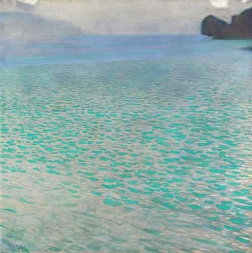 tableaux-de-paysages - Tableau -Île à Attersee, 1901- - Klimt, Gustav