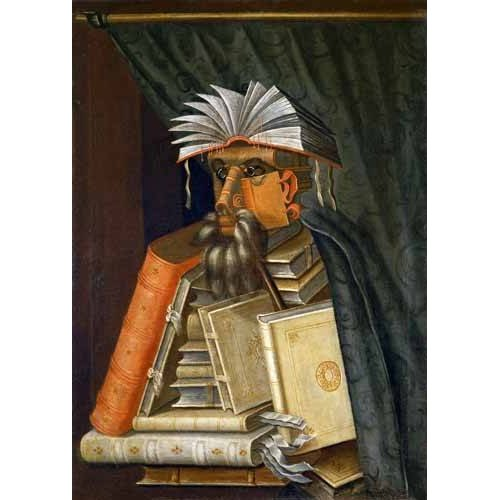 naturezas mortas - Quadro -El Bibliotecario-