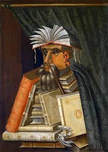 tableaux-nature-morte - Tableau -El Bibliotecario- - Arcimboldo, Giuseppe