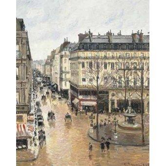 - Tableau -Rue Saint-Honoré dans l'après-midi (1897), effet de pluie- - Pissarro, Camille
