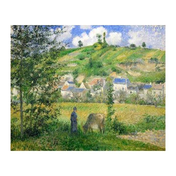 pinturas de paisagens - Quadro -Paysage a Chaponvalle, 1880-