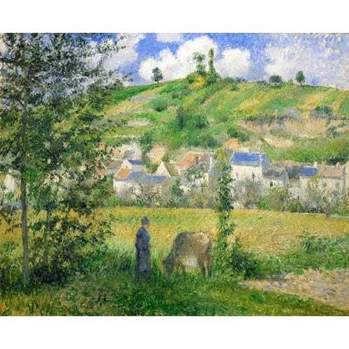 Tableau -Paysage à Chaponval, 1880-