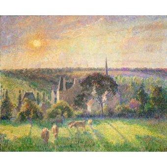 Tableau -L'église et la ferme d'Eragny (1895)-