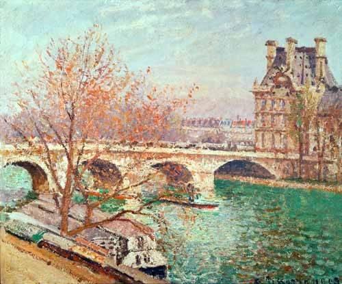 tableaux-de-paysages - Tableau -Paysage à Pontoise, 1877- - Pissarro, Camille