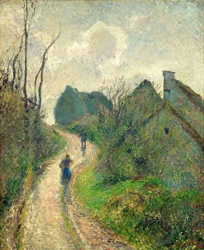 tableaux-de-paysages - Tableau -Chemin montant à Osny- - Pissarro, Camille