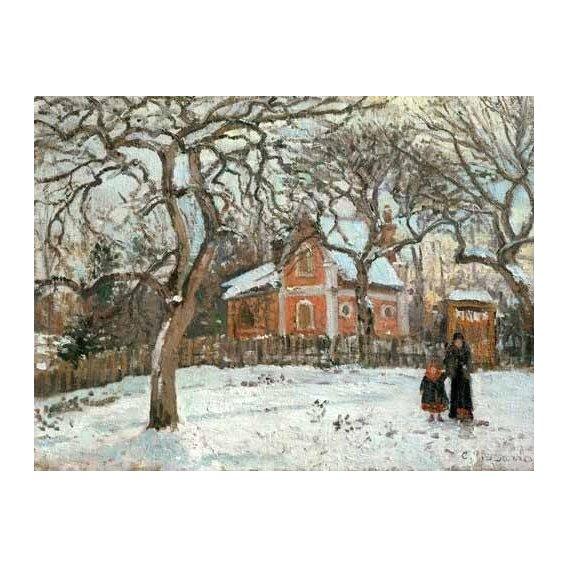 pinturas de paisagens - Quadro -Chateigniers a Louveciennes, vers 1872-